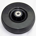 "Front Wheel 6"" Foam Filled (Black)"