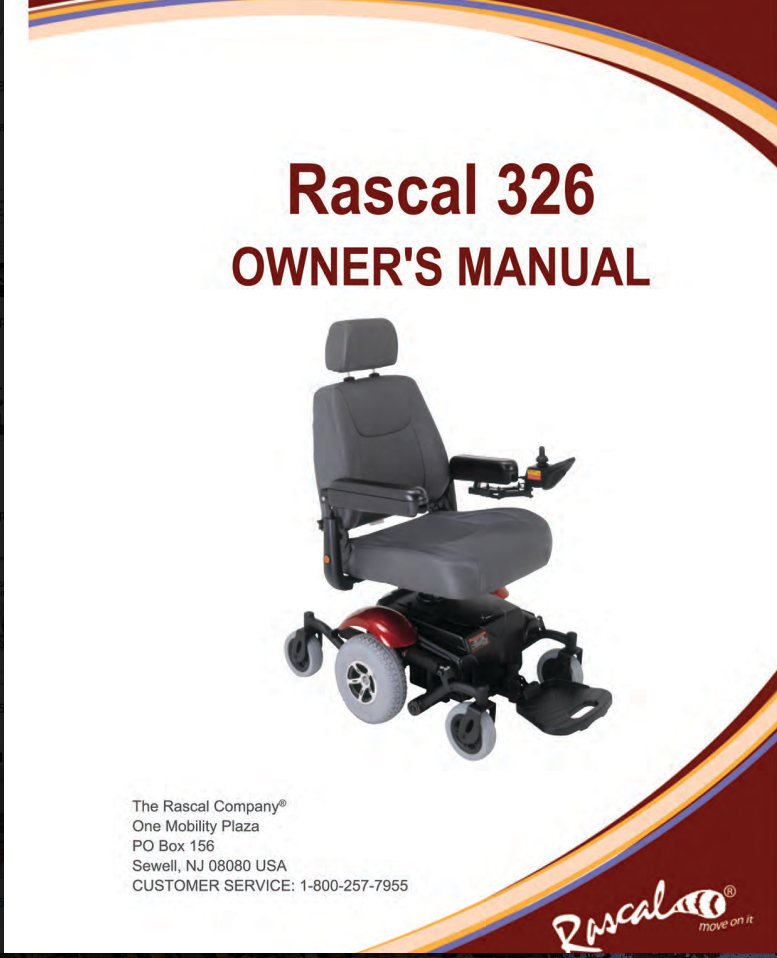 Rascal 326 Owner's Manual