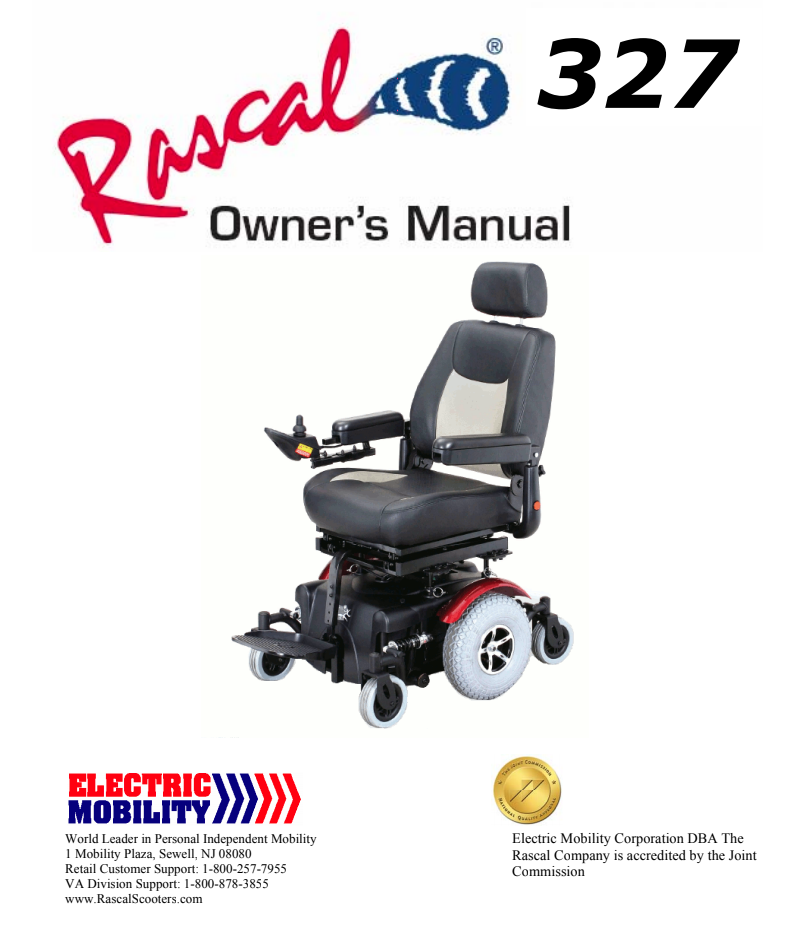 Rascal 327 Owner's Manual