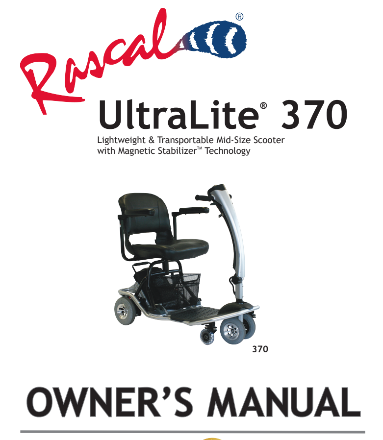 Rascal 245 Heavy Duty : Mobility Parts and Service