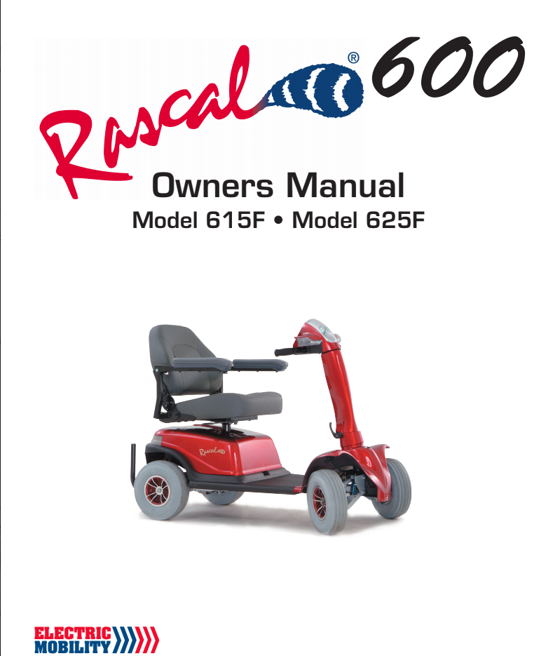 Rascal 615F 625F Owner's Manual