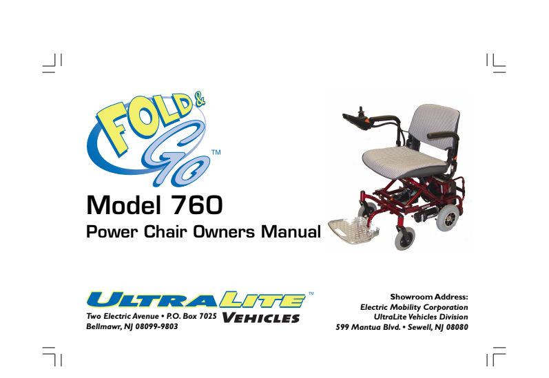 Fold & Go Model 760 Owner's Manual