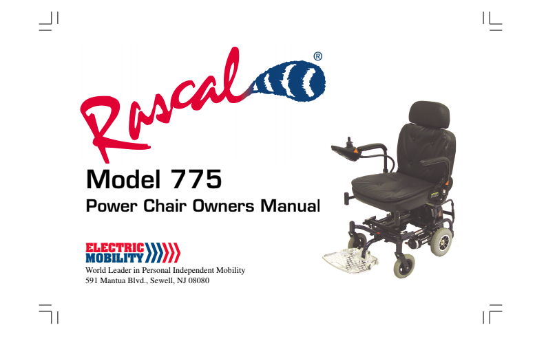 Rascal 775 Owner's Manual