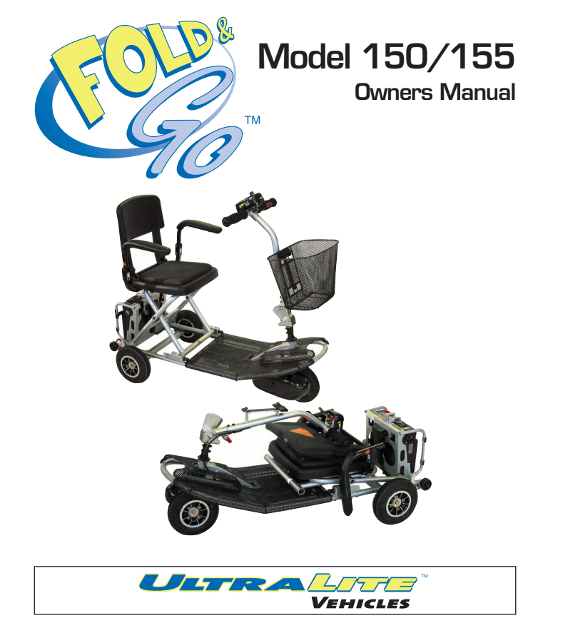Fold & Go 150/155 Owner's Manual