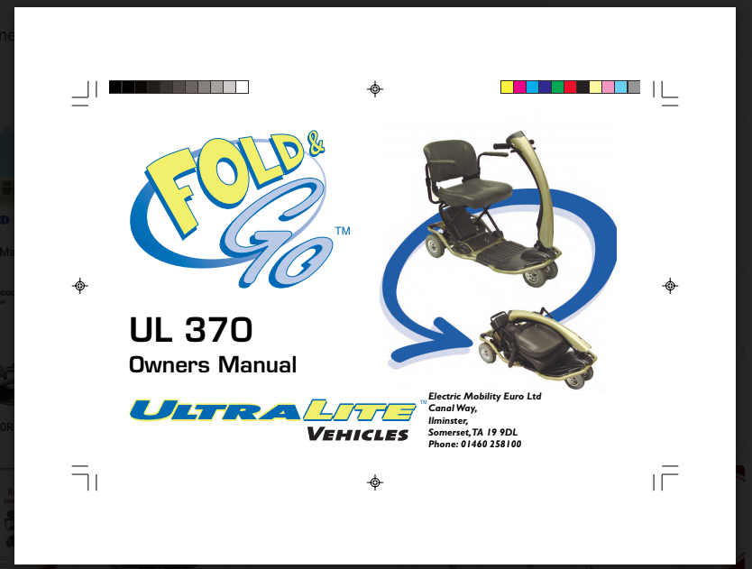 Fold & Go UL 370 Owner's Manual