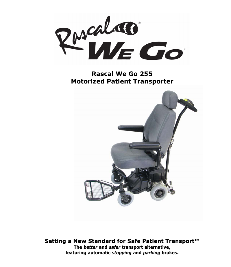 Rascal We Go 255 Owner's Manual