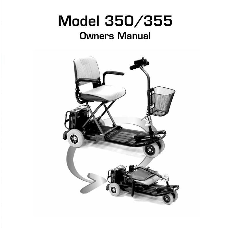 Rascal Mobility 355 Manual on