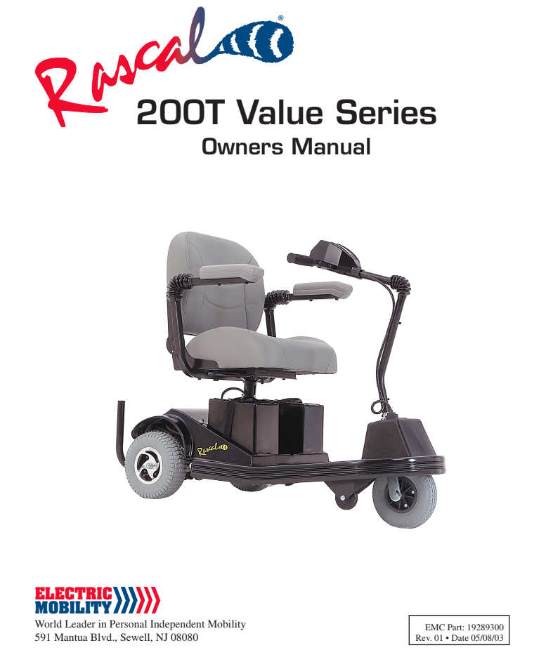 Rascal 200T Value Series Owner's Manual