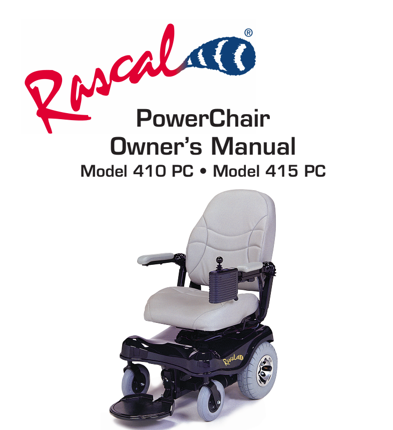 Rascal 410 PC/415 PC Owner's Manual