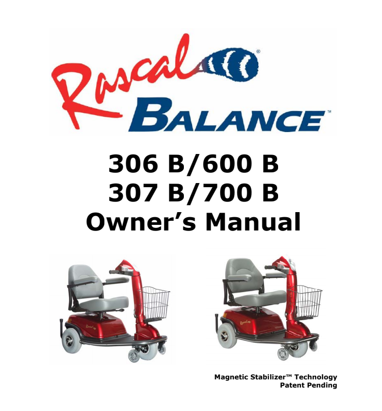 Rascal 306 B/307 B/600 B/700 B Owner's Manual