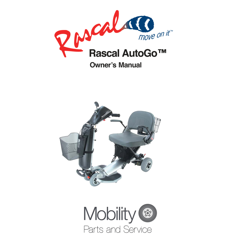Rascal AutoGo Owner's Manual