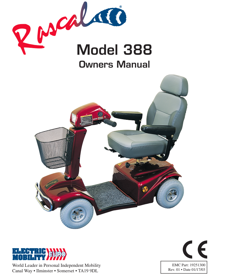 Rascal 388 Owner's Manual